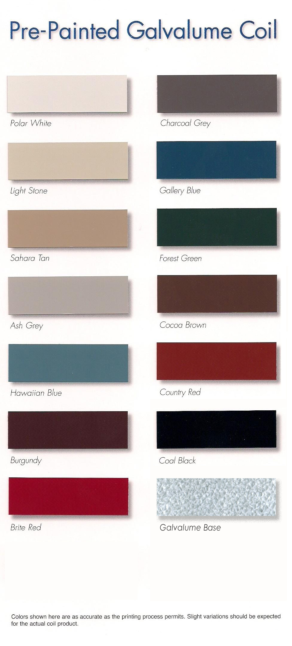 Metal Roofing Color Choices